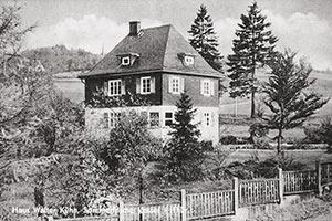 Haus Walter Kühn, Pension für den Urlaub in Vesser/Thüringen (Postkarte ca. 1960er Jahre)